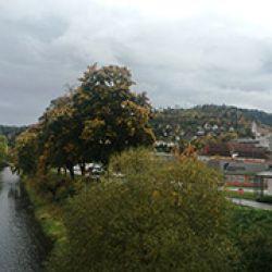 El cristalino río Neckar, que da apellido a Oberndorf, favorece el aspecto buco?lico de la pequeña ciudad alemana