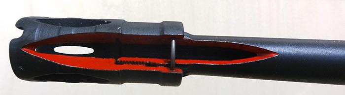 Apagafuegos de un rigle G-36. La velocidad máxima que esta arma dispara un proyectil es de 920 metros por segundo. Foto: SinEmbargo Humberto Padgett