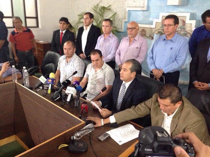 Blanco en la conferencia de prensa de este lunes. Foto: Especial.