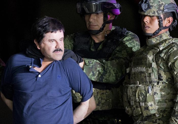 """""""El Chapo"""" fue detenido este viernes por elementos de la Marina en Los Mochis, Sinaloa. Foto: AP."""