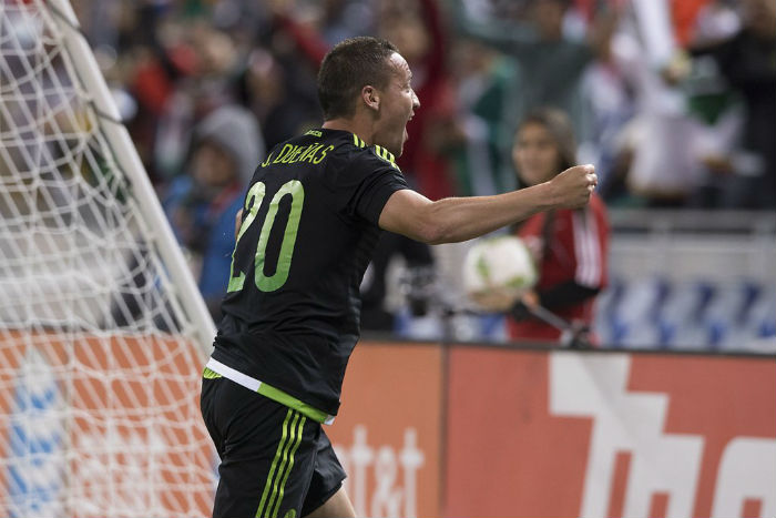 El jugador de Tigres abrió el marcador tras varios intentos de la delantera mexicana. Foto: @miseleccionmx