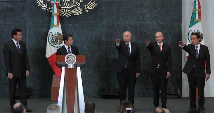 El Presidente Enrique Peña Nieto anunció este día cambios en su gabinete. Foto: Cuartoscuro