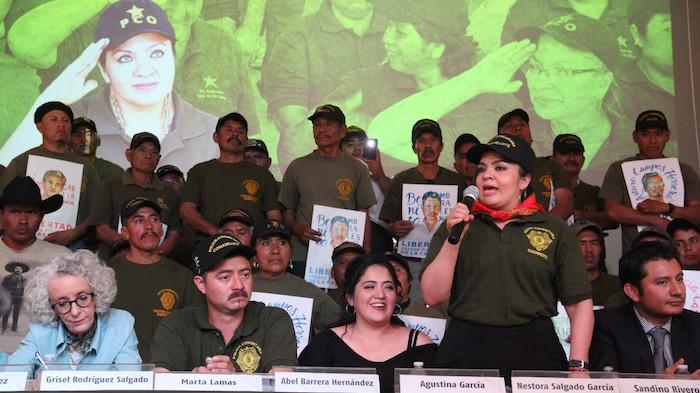La Comandanta defendió el derecho de las comunidades a organizarse y criticó duramente el papel que jugaron algunos medios de comunicación durante su detención. Foto: Luis Barrón, SinEmbargo