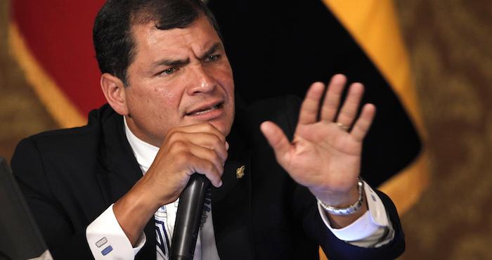 Rafael correa, Presidente de Ecuador. Foto: Archivo/AP.