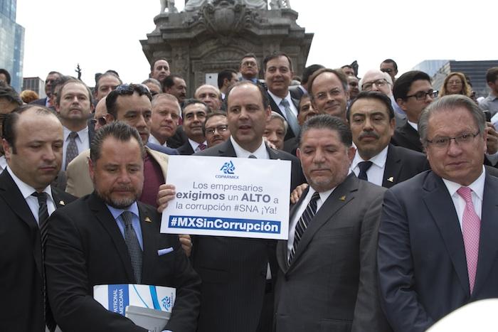 Empresarios exigen implementar el Sistema Nacional Anticorrupción. Foto: Cuartoscuro.