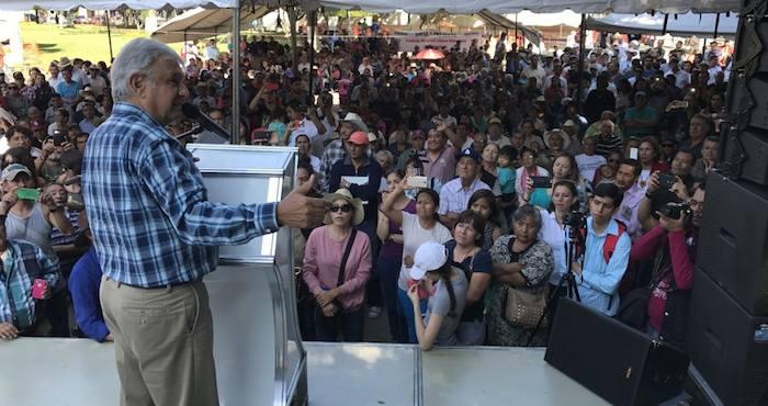 López Obrador encabezó un mitin en Ciudad Guzmán. Foto: amlo.org