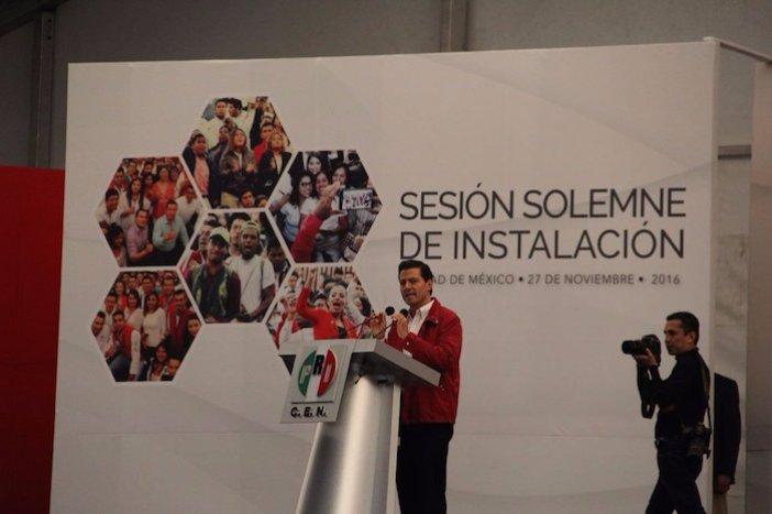 La instalación del VI Consejo Político Nacional del PRI fue encabezado por el Presidente Enrique Peña Nieto. Foto: Twitter @PRI_Nacional