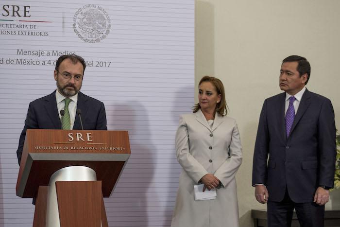 Videgaray deberá atender las amenazas de Trump de renegociar el TLCAN. Foto: Tercero Díaz, Cuartoscuro