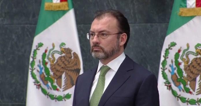 Luis Videgaray Caso, nuevo titular de la Secretaría de Relaciones Exteriores. Foto tomada de la transmisión en vivo