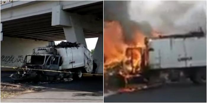bloqueos guanajuato 1 - Manifestantes y elementos de la SSC-CdMx se enfrentan por bloqueo en la autopista México-Puebla