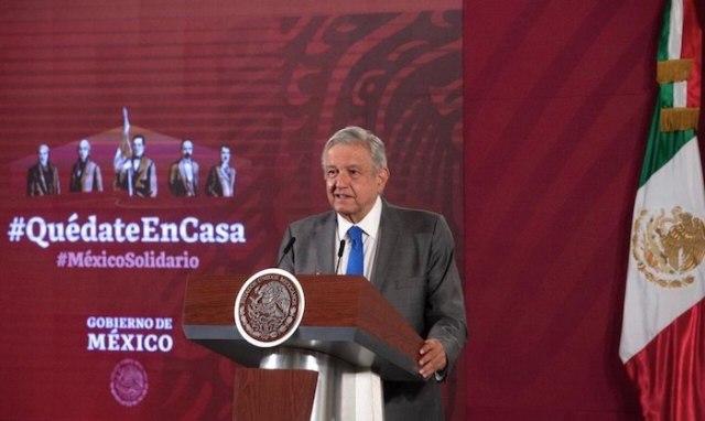 El Presidente Andrés Manuel López Obrador en conferencia de prensa desde Palacio Nacional. Foto: Gobierno de México