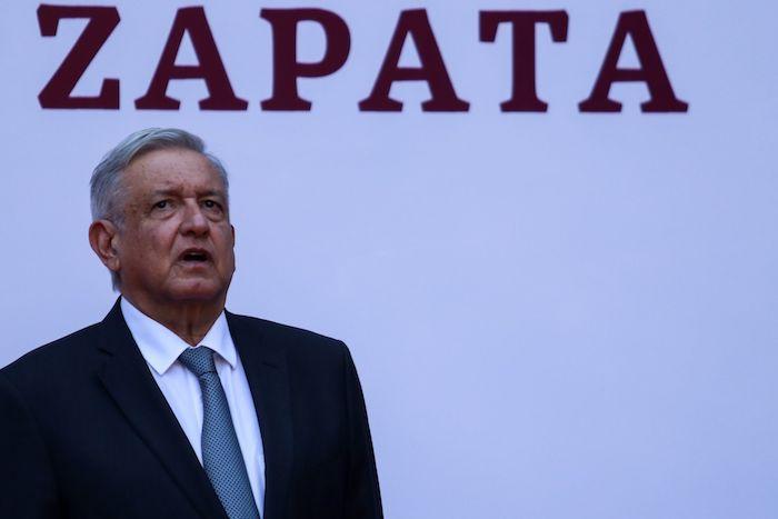 Andrés Manuel López Obrador, Presidente de México, durante la ceremonia por el aniversario luctuoso de Emiliano Zapata, celebrada el pasado 10 de abril.