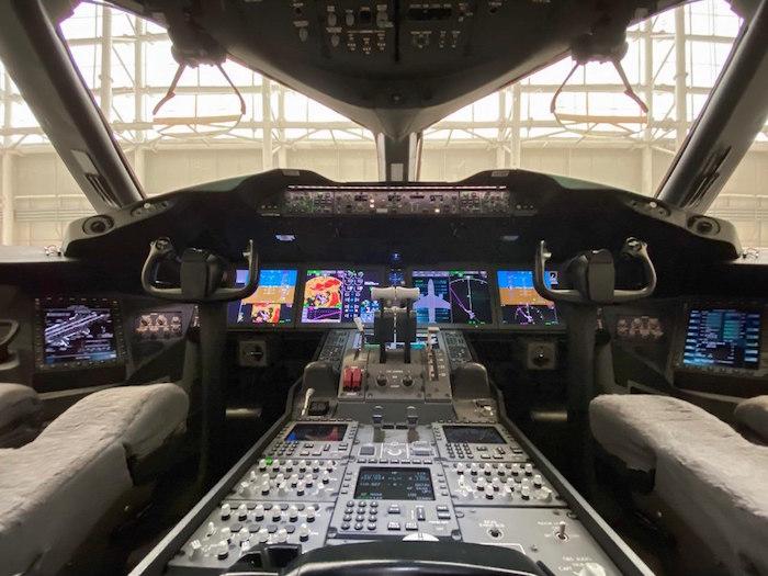 La cabina del avión presidencial.