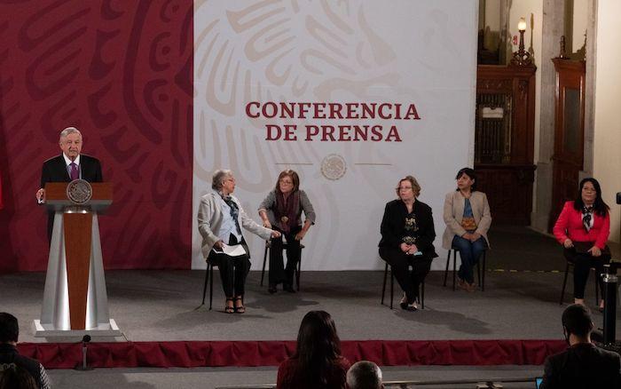 El Presidente Andrés Manuel López Obrador en su conferencia de prensa matutina.