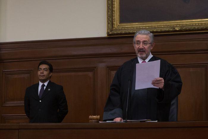 El Ministro Luis María Aguilar en la Suprema Corte de Justicia de la Nación.