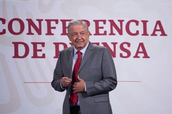 El Presidente Andrés Manuel López Obrador en su conferencia de prensa.