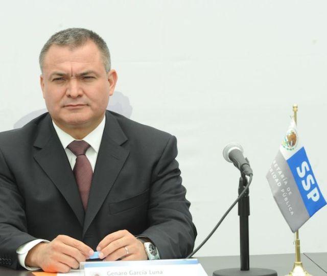 Genaro García Luna, exsecretario de Seguridad Pública federal, durante una conferencia de prensa en 2010.