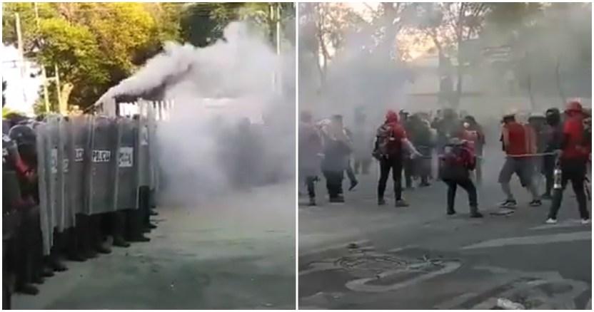 marcha 2oct - Manifestaciones podrían elevar la curva de casos de COVID-19 en la Ciudad de México, alerta Salud