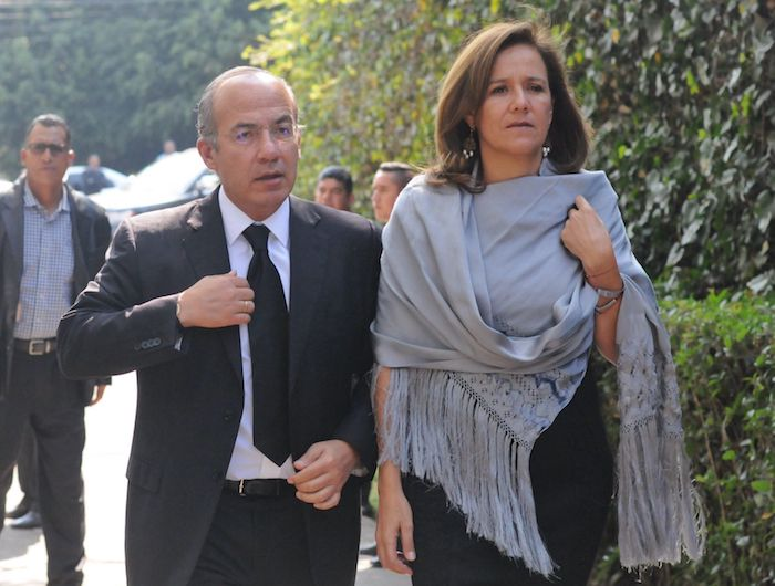 Felipe Calderón Hinojosa, expresidente de México, y su esposa Margarita Zavala en 2017.