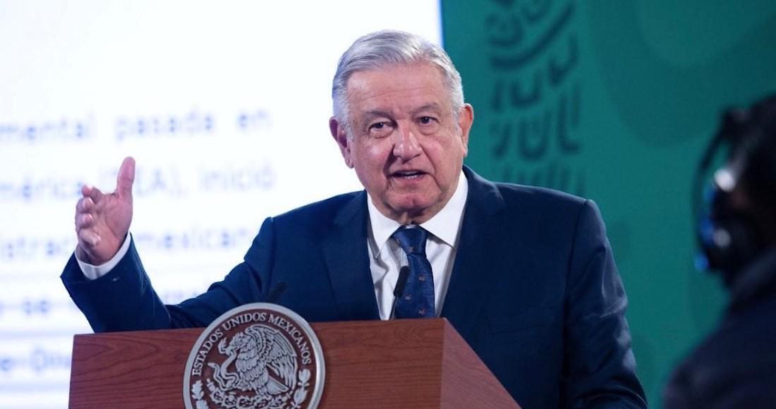 El Presidente Andrés Manuel López Obradoren su conferencia de este viernes.