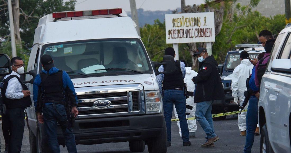 Foto masacre policías en Coatepec estado de méxico