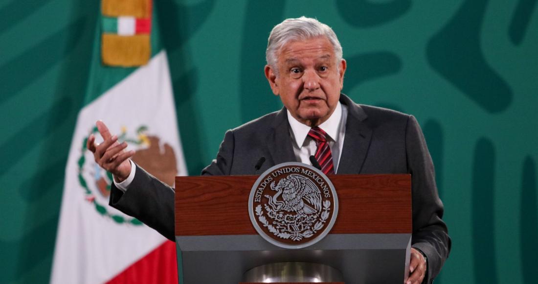 El Presidente de Andrés Manuel López Obrador en su conferencia de prensa de este viernes.