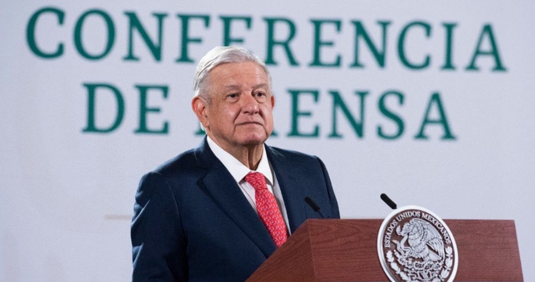 El Presidente Andrés Manuel López Obrador durante su conferencia en Palacio Nacional, donde habló del caso Cabeza de Vaca.