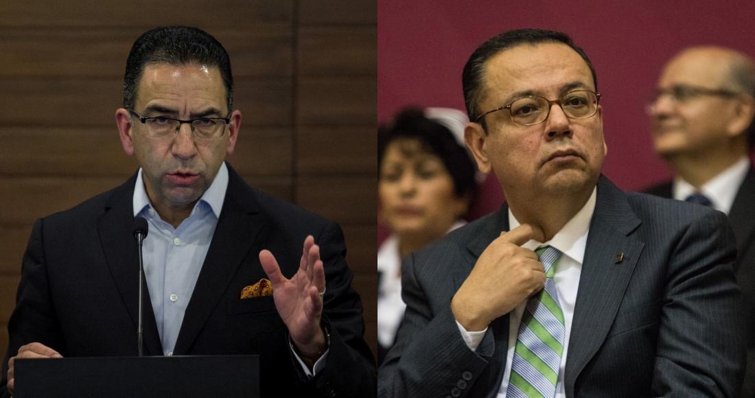 Javier Lozano, exvocero de la campaña presidencial de José Antonio Meade, y Germán Martínez, Senador de Morena.