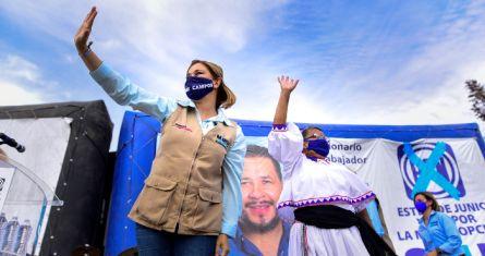 María Eugenia Campos, candidata del PAN a la gubernatura de Chihuahua.