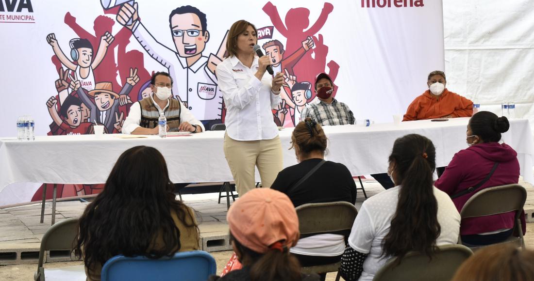 Mónica Rangel, candidata de Morena al Gobierno de San Luis Potosí.