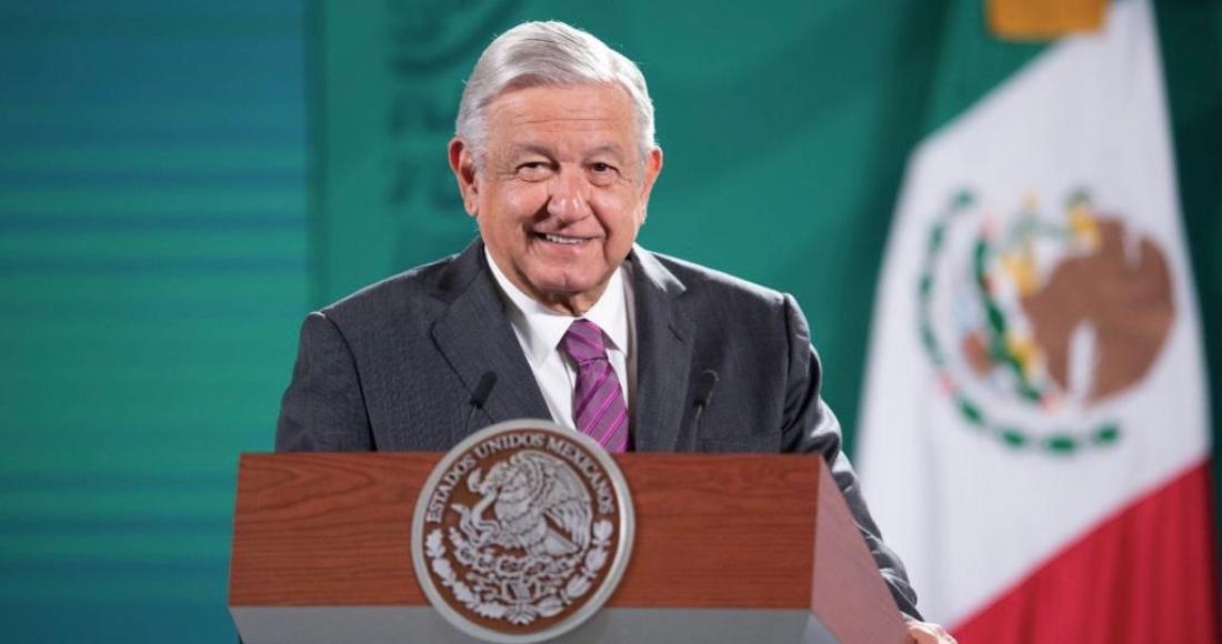 El Presidente Andrés Manuel López Obrador en su conferencia de prensa matutina de este miércoles.