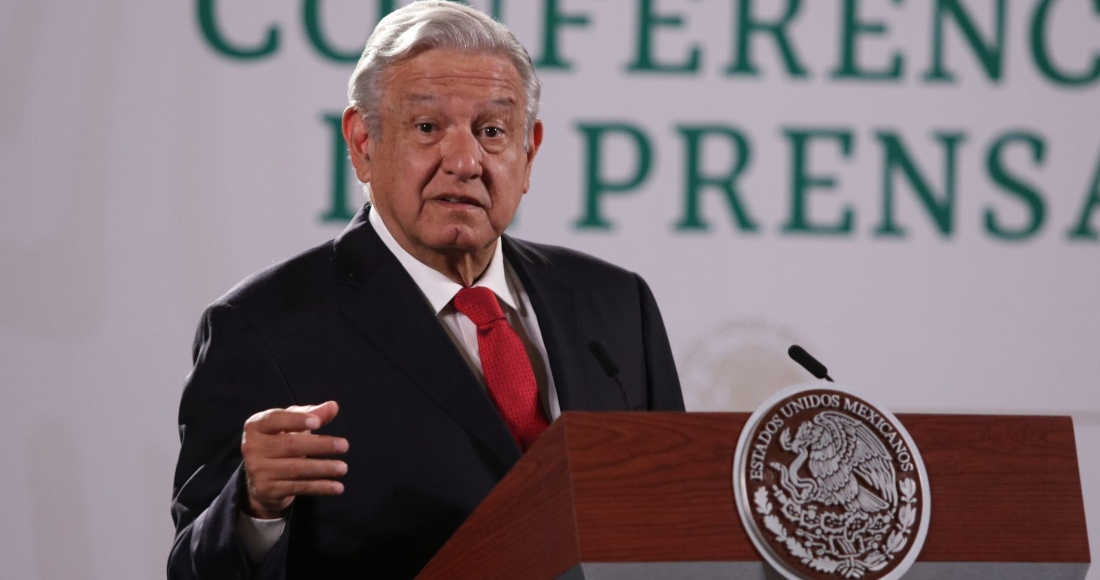 Andrés Manuel López Obrador, Presidente de México, durante conferencia matutina en Palacio Nacional.