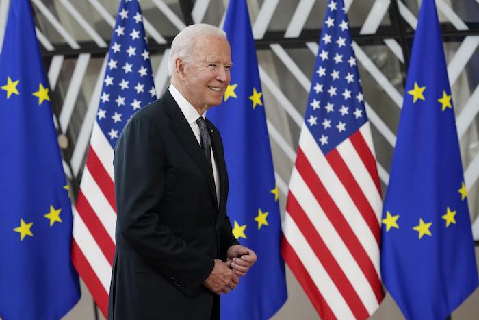 El Presidente estadounidense Joe Biden en Bruselas el 15 de junio del 2021.