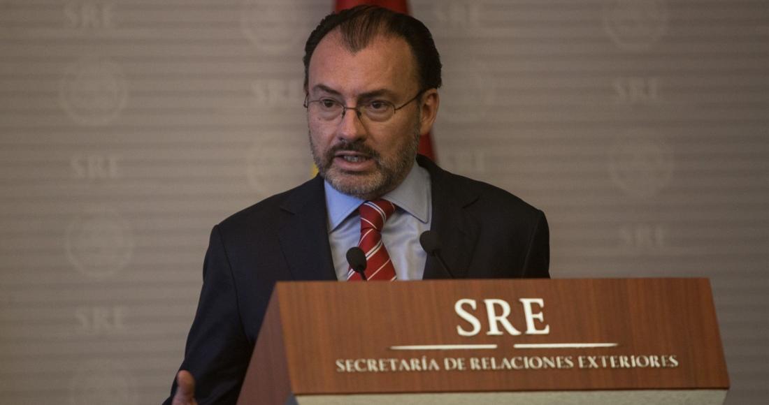 Luis Videgaray, entonces Secretario de Relaciones Exteriores, en un evento de diciembre de 2017.