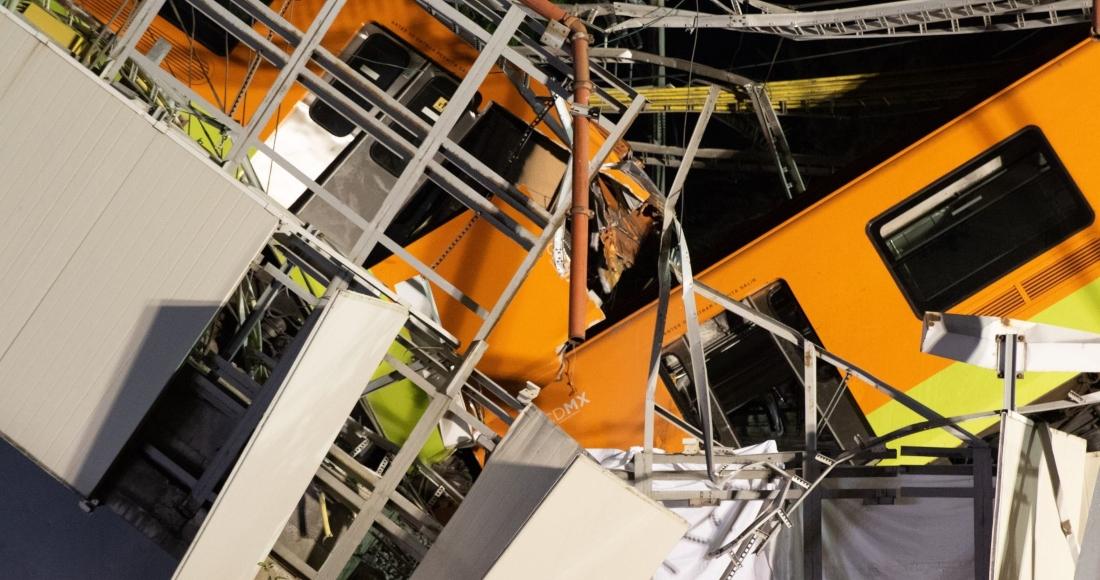 Un convoy de la Línea 12 del Metro se desplomó luego de que se venciera el tramo elevado en la estación Olivos el pasado 3 de mayo.