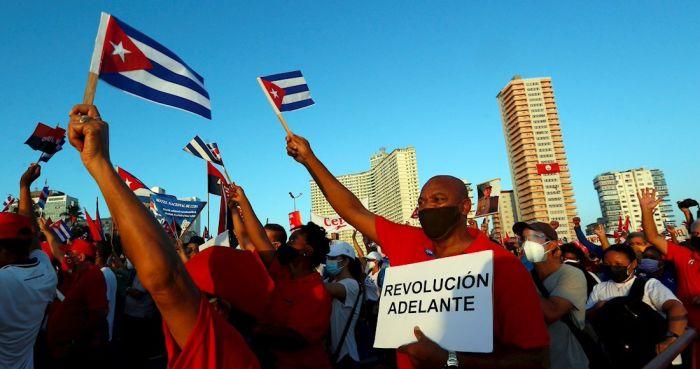 Contraprotestas en Cuba