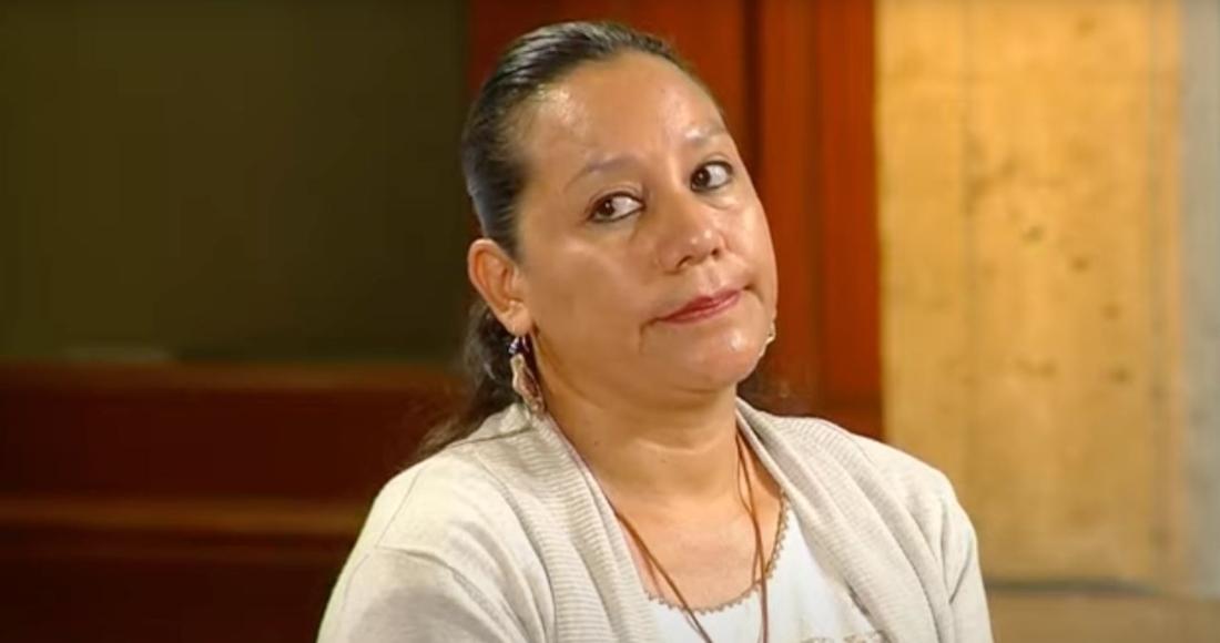María Luisa Albores González, Secretaria de Medio Ambiente y Recursos Naturales, en Palacio Nacional.