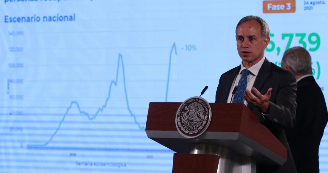México hila 3 semanas consecutivas con reducción de casos de COVID, dice López-Gatell