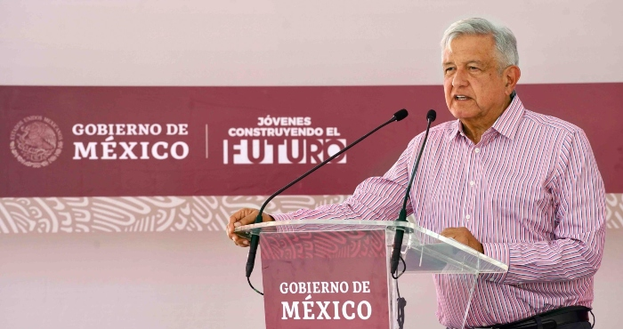 """Andrés Manuel López Obrador, Presidente de México, encabezó los Avances y Resultados del Programa """"Jóvenes Construyendo el Futuro""""."""