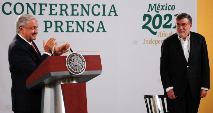 Andrés Manuel López Obrador, Presidente de México, anuncia la salida de Julio Scherer Ibarra como Consejero de la Presidencia.