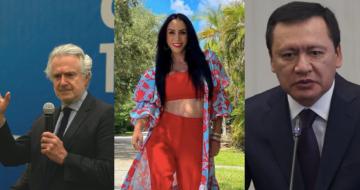 Los políticos Santiago Creel y Miguel Ángel Osorio-Chong, y la actriz y conductora Inés Gómez-Mont.