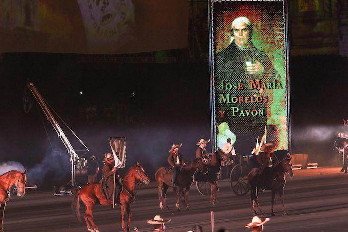 In the show, José María Morelos y Pavón was remembered.
