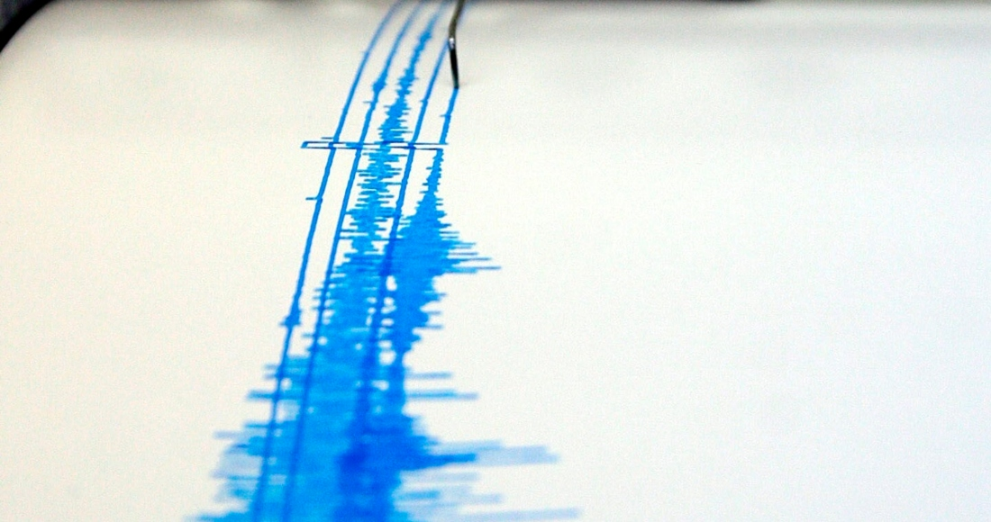 Fotografía de archivo de una lectura del sismógrafo.