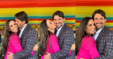 La conductora de televisión Inés Gómez Mont y si esposo, Víctor Manuel Álvarez Puga.