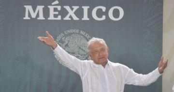 El Presidente de México, Andrés Manuel López Obrador, durante su visita a Chilpancingo, Guerrero.