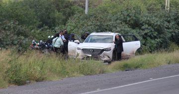Enfrentamiento en una carretera de Guanajuato.