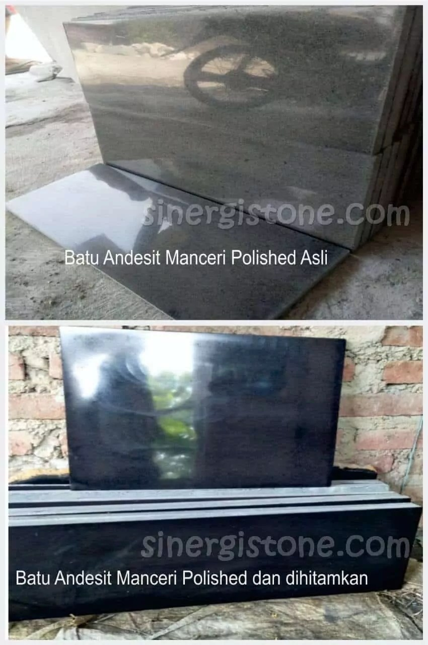 Jenis batu andesit polished Manceri