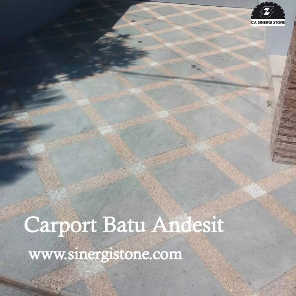 carport batu andesit dari sinergi stone