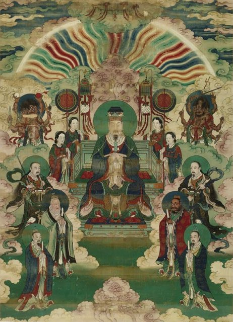 Portraits of the Jade Emperor and the Heavenly Kings