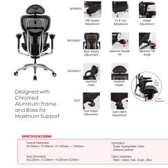 Chair Design Back Angle Reclining Ergonomic Mesh Chairs A7 High With Seat Backrest Height Adjustable Lock Synchromatic Mechanism